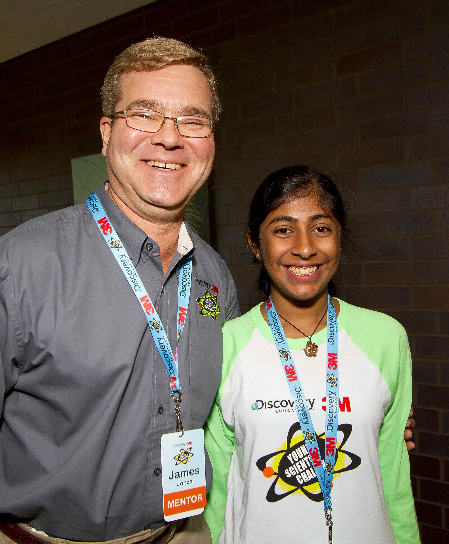 Deepika and mentor 3M Scientist Jim Jonza