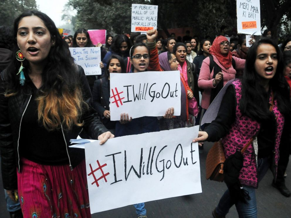 Global Sisterhood: How the US Women's Marches and India's #IWillGoOut Movement Made Similar Statements