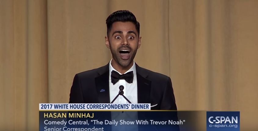 Hasan Minhaj's Top 10 Moments at the 2017 White House Correspondents' Dinner
