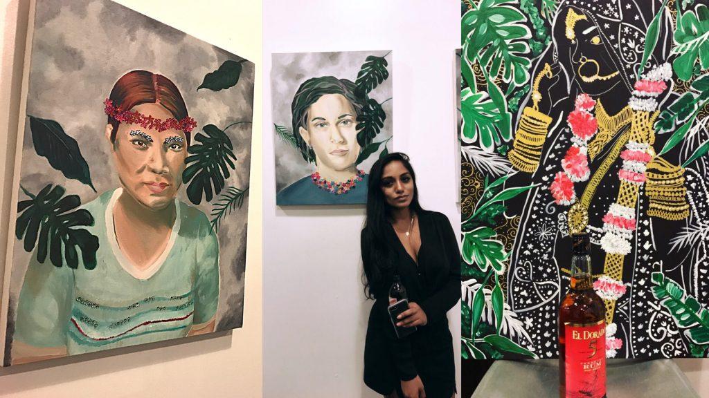 'Gyal Dem' Artist Amrisa Niranjan Creates Vibrant Reimagined Realities of Caribbean Women in First Art Show