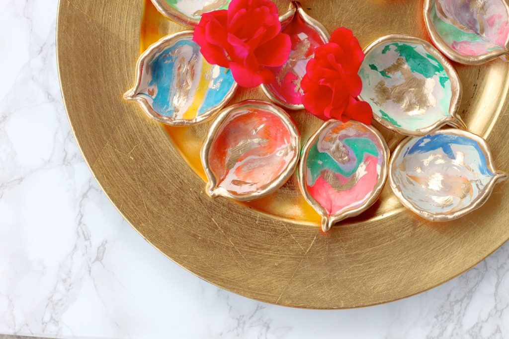 Here's a DIY Project you can Easily Tackle: Rainbow Diwali Diyas