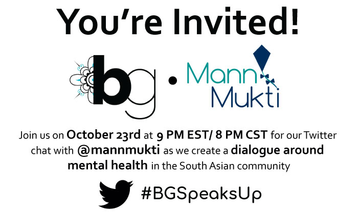 #BGSpeaksUp: Twitter Chat Sparks an Important Conversation on South Asian Mental Health