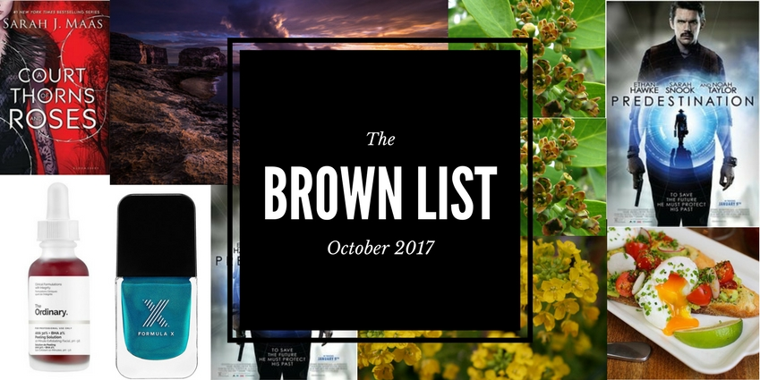 The Brown List: Staff Picks for October 2017