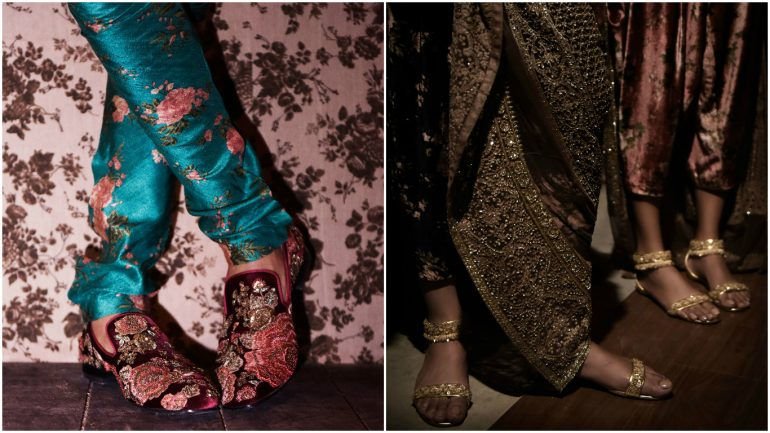 novelty textiles sabyasachi and christian louboutin unveil their capsule shoe
