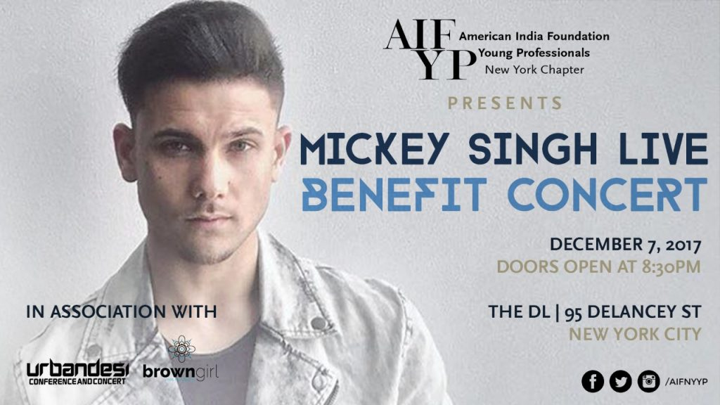 Urban Desi Artist Mickey Singh Takes the Stage in New York City to Benefit Youth in India