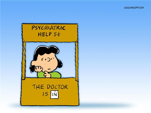 Snoopy cartoon, psychiatric help, therapy