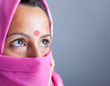 Closeup portrait of a beautiful young indian woman