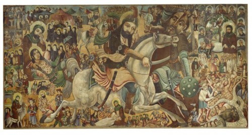 the painting commemorating the martyrodom of imam husayn