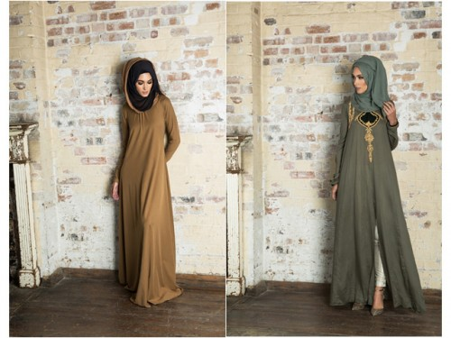 LEFT: Mulberry Honey Musturd RIGHT: Kabanoki Abaya