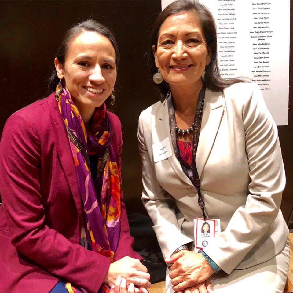 Sharice Davids and Debra Haaland