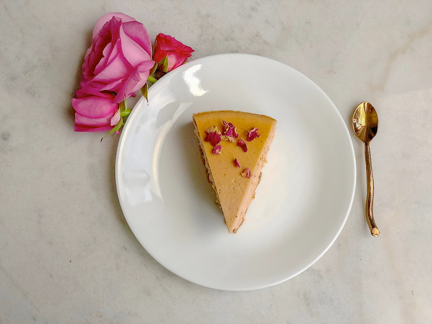 A Valentine's Day Treat: Rose Chai Cheesecake