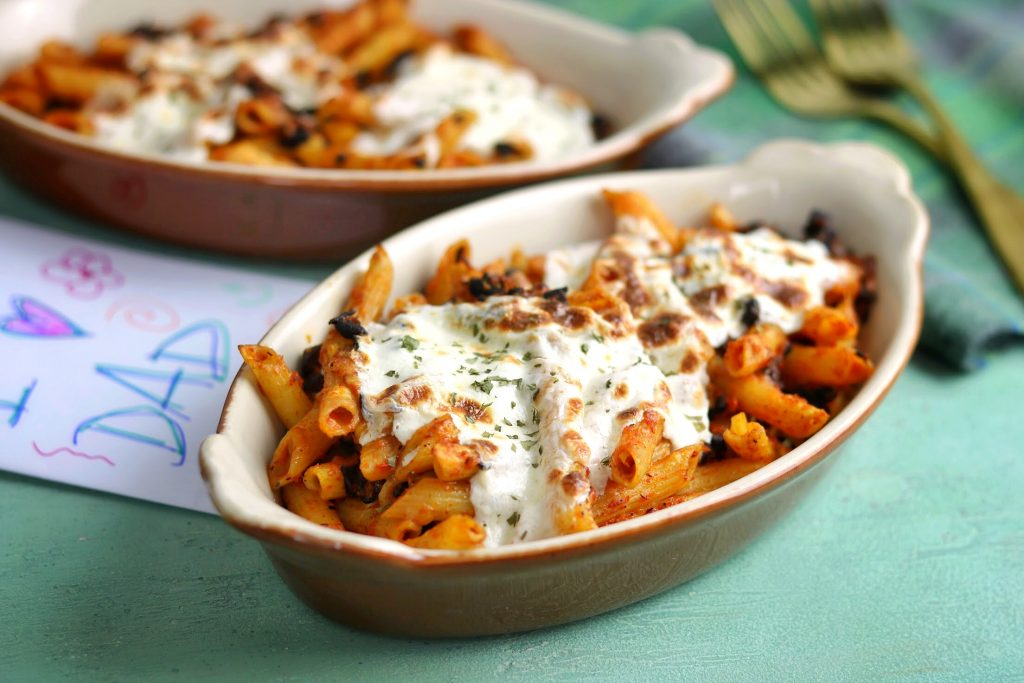 Cheesy Baked Mushroom Penne Pasta: A Recipe for Dad