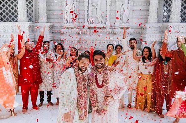 Amit Shah and Aditya Madiraju at wedding/ fashion goals