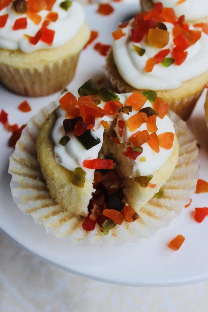Tutti Frutti Tres Leches Cupcakes