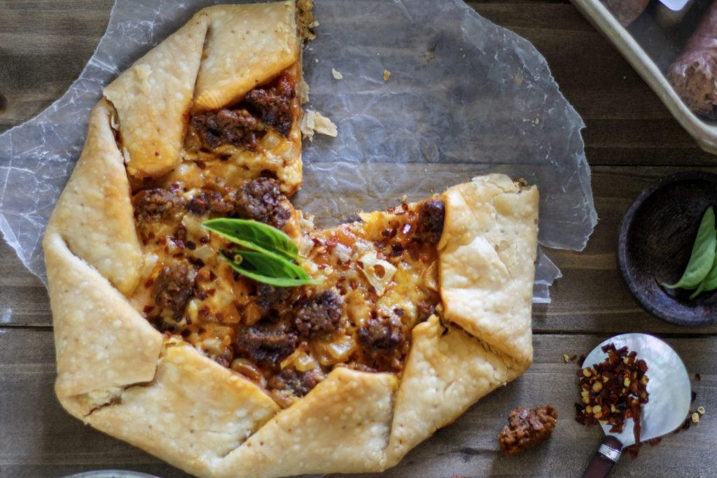 Pizza Fridays: Spicy Sausage & Burrata Tart