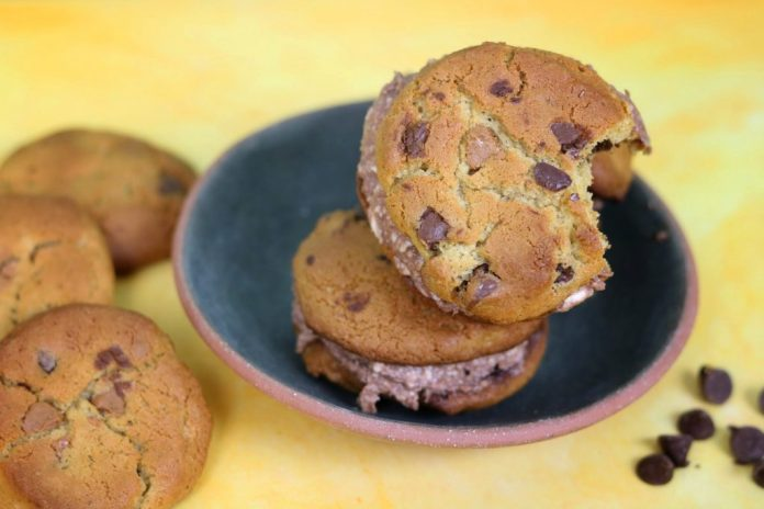Chocolate Chip Nutella Cream Cheese Cookie Sandwich